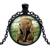Adorable Glow in the Dark Baby Elephant Necklace