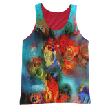 Red Coral Reef Tank - Vibrant Red Back