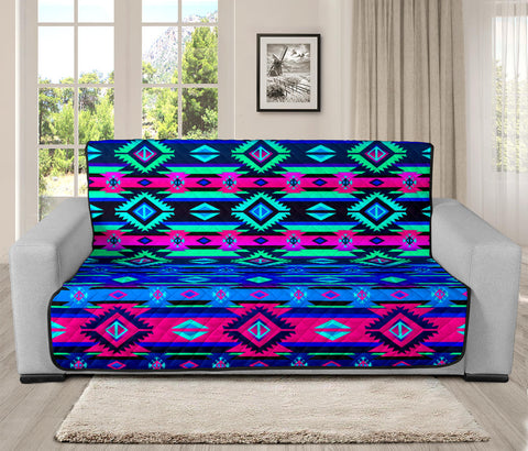 Southwestern Adobe Sunset-Futon Cover Blue Fusha Aqua