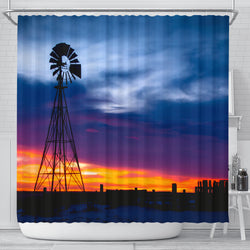 On the Range Windmill Shower Curtain
