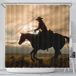 On the Range Cowboy Shower Curtain