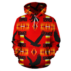 Southwestern Eagle Hoodie - Bright Red - Men Women and Childrens Sizes