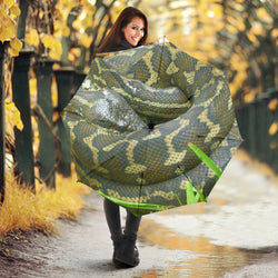 Army Green Python Snake Folding Umbrella with UV Protection