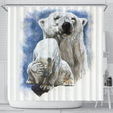 Noble Polar Bear Shower Curtain