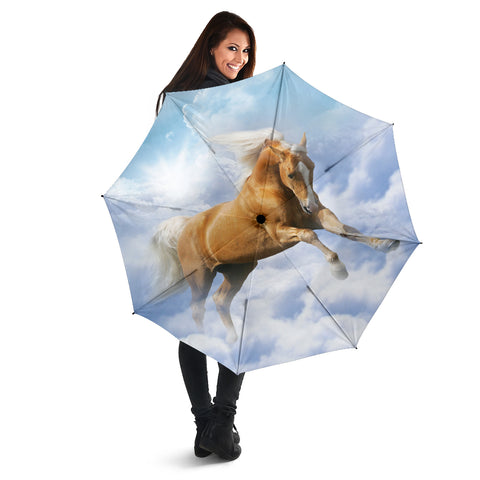 Palomino in Clouds Horse Umbrella
