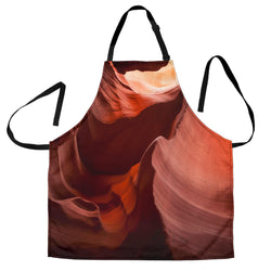 Womens Southwestern Rock Formation Custom Apron- Orange and Red Designer Apron - Exclusively Licensed Artwork - One Size Fits All