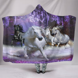 In a Purple Dream Hooded Blanket