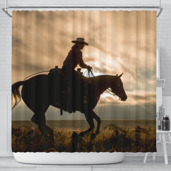 On the Range Cowboy Horse Shower Curtain