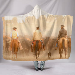 3 Cowboys Herding Cattle TV Blanket - Fleece Blanket with Gorgeous Licensed Artwork - Youth and Adult Sizes