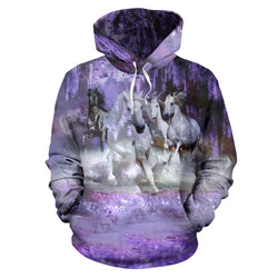 In a Purple Dream Hooded Sweatshirt