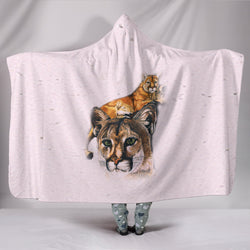 Mountain Lion TV Blanket - Cougar Fleece Blanket with Gorgeous Licensed Artwork - Youth and Adult Sizes