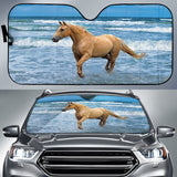 Palomino in the Surf Horse Sunshade for Car Windshield