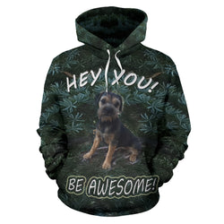 Silli Hey You, Be Awesome! Border Terrier Dog Hoodie