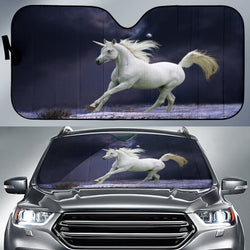 Moonlit Night Unicorn Car Sunshade