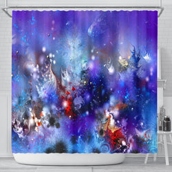 Purple Coral Reef Shower Curtain