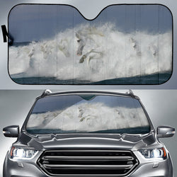Out of the Surf Horse Sunshade for Car Windshield