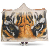 Bengal Tiger Eyes TV Blanket - Orange, Black and Beige - Exclusive Licensed Artwork - Adult and Youth Sizes