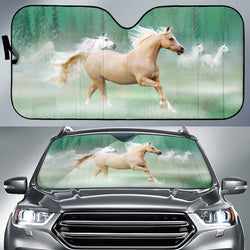 Palomino in the Mist Horse Sunshade for Car Windshield