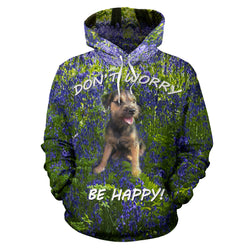 Silli Don't Worry Be Happy Dog Lover Hoodie