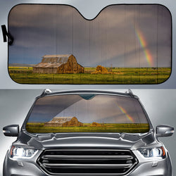 Rainbow's End Barn Country Car Sunshade