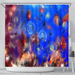 Cosmic Jellyfish Shower Curtain