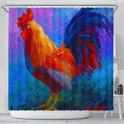 Vibrant Rooster Shower Curtain
