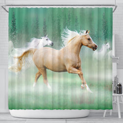 Palomino in the Mist Horse Shower Curtain