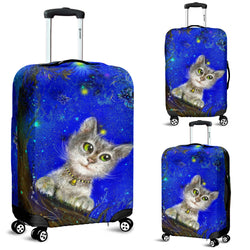 Green Eyed Cat Magic Luggage Cover