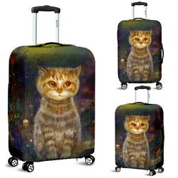Cat Flower Magic Luggage Cover