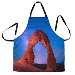 Southwestern Arch Custom Apron - Red Clay and Blue Sky Designer Apron - Exclusively Licensed Artwork - For Men and Women - One Size Fits All