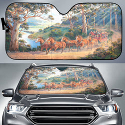 The Run Home Horse Sunshade for Car Windshield