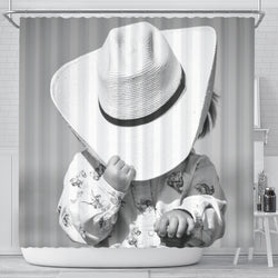 Start Em Young Little Cowgirl Shower Curtain