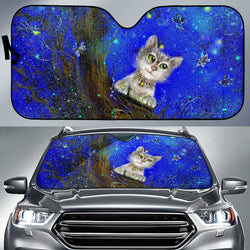 Green-Eyed Cat Magic Sunshade