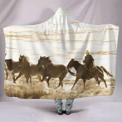 Still Wild Cowboy TV Blanket - Western Fleece Blanket with Gorgeous Licensed Artwork - Youth and Adult Sizes