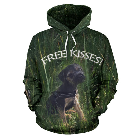Women/'s Silli Free Kisses Dog Lover/'s Hoodie