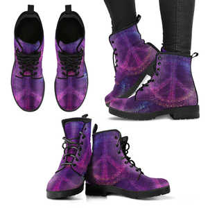 Purple Peace Handcrafted Boots