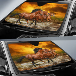 Four Horse Sunshade for Car Windshield