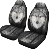 Soft Eyed Wolf Car Seat Cover