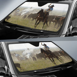 Cowboy Up! Horse Sunshade for Car Windshield