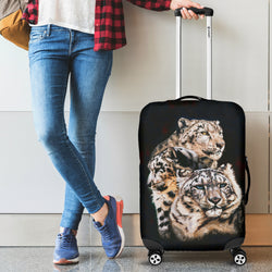 Snow Leopard Luggage Cover