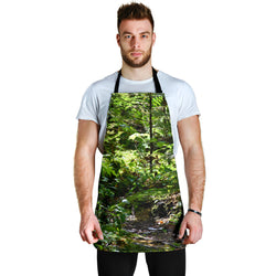 Back to Nature - Creek in Woods - Custom Apron – Green Designer Apron - One Size Fits All