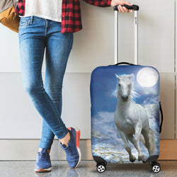 Once Upon a Snowy Moonlit Night Luggage Cover
