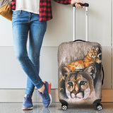 Mountain Lion Luggage Cover