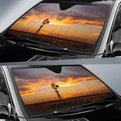 Windmill Country Car Sunshade
