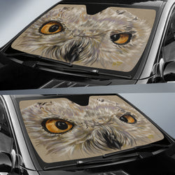 Snowy Owl Car Sunshade