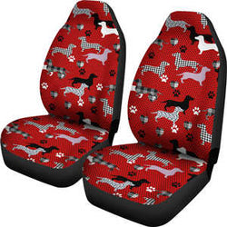 Red Dachshund Car Seat Cover