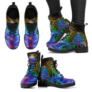 Women's Vegan Leather 7 Chakra Balancing Boots