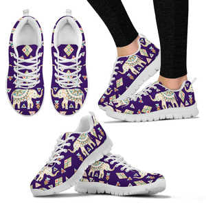 Fun Purple Elephant Sneakers