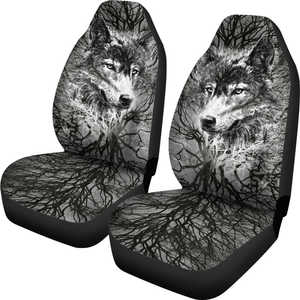 Grey Wolf Tree Car Seat Covers
