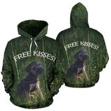 Silli Free Kisses Dog Lover's Hoodie